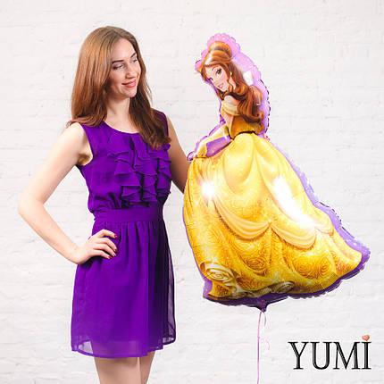 Фольгированный шар принцесса Белль Красавица и Чудовище, фото 2