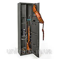 Оружейный сейф на 3!! ствола 137х39х25см. Е-139К1 электронный замок для дома, офиса, в гостиницу для хранения, фото 2