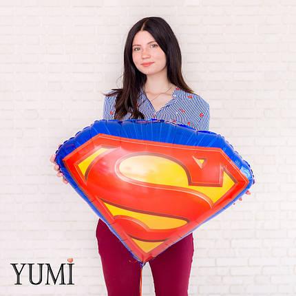 Фольгированный шар с гелием Щит Супермена, фото 2