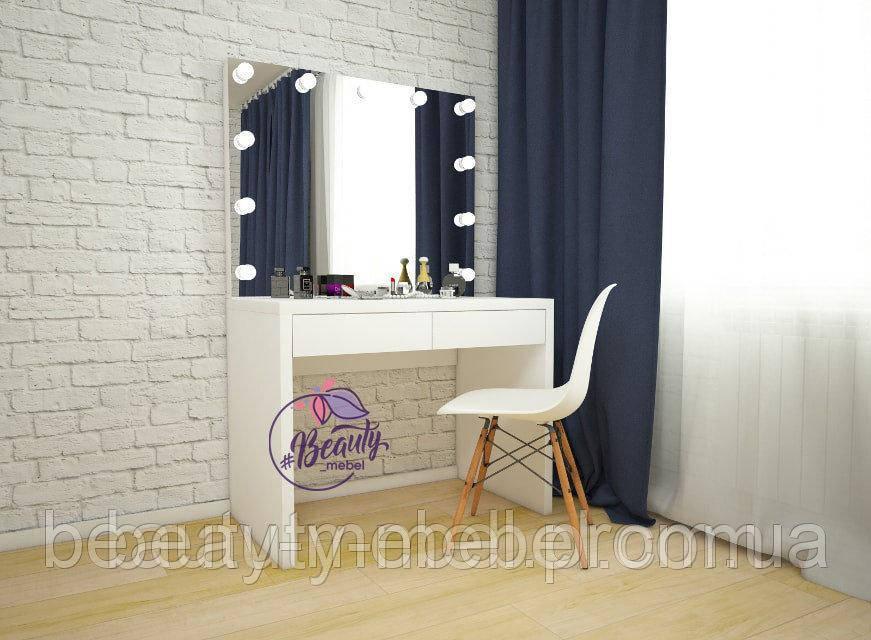 Комплект стол для макияжа  + стул на буковых ножках