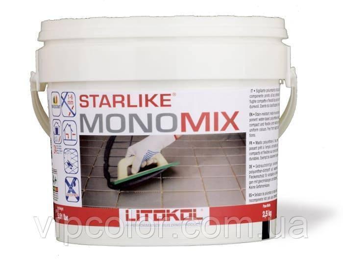 Litokol полиуретановая затирка для плитки Старлайк Мономикс SMNGST02.5 С.320 серый шелк 2,5 кг