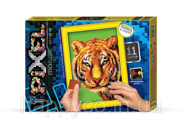 """Мозаика для детей 'Тетрис' """"Pixel"""" Тигр """"ДАНКО ТОЙС"""", детская игрушка"""