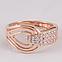 Золотое кольцо змея с фианитами. КП1636, фото 2