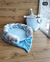 Кокон -трансформер для новорожденного со съёмной косичкой (цвет под заказ)