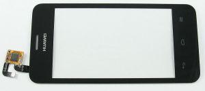 Тачскрин сенсор Huawei Y320-30 Ascend Dual Sim черный без разъема