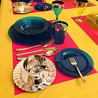 Качественная пластиковая посуда одноразовая опт для  вечеринки свадьбы пикника и туризма фуршета CFP 9шт/1пер