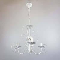 Классическая люстра-свеча на 3 лампочки СветМира IS-4126/3 (белая с золотой патиной)
