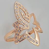 Золотое кольцо цветок с фианитами КП1220
