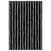 IKEA GORLOSE (503.208.48) Ковер с коротким ворсом, черный/белый