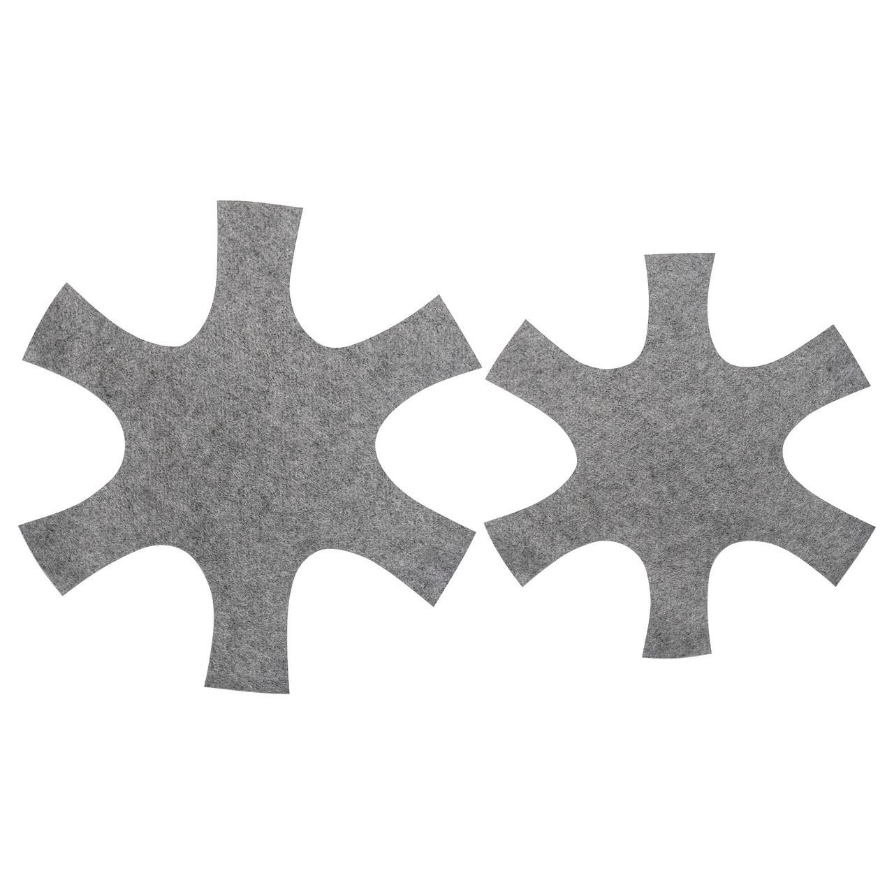 БЕДОМА Подкладка для сковороды, 2 шт., серый, 80325651, ИКЕА, IKEA, BEDÖMA