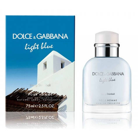 Туалетная вода мужская Dolce & Gabbana Light Blue Living Stromboli 125ml (копия), фото 2