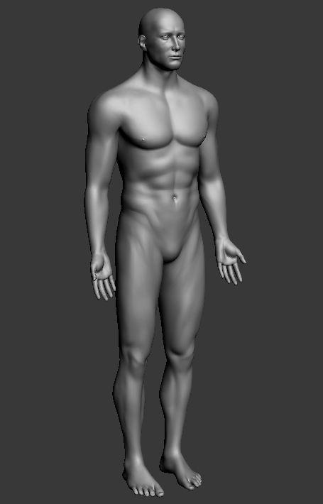 Оборка 3D моделі - звичайне ретушування