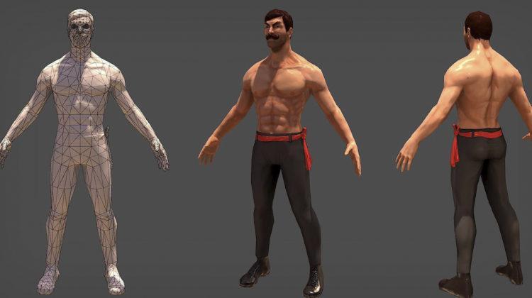 Оброка 3D моделі - ретушування та обробка текстури