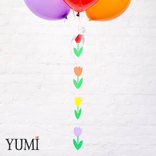 Яркая композиция из шаров с гелием для девушки , фото 2