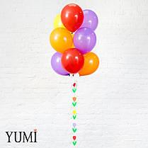 Яркая композиция из шаров с гелием для девушки , фото 3