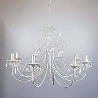 Классическая люстра-свеча на 8 лампочек СветМира IS-4126/8 (белая с золотой патиной)