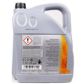 Моторное масло Mercedes Benz Synthetic 229.51 5w-30 (A001989370110)