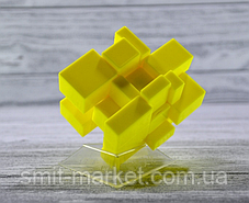 Кубик Рубика зеркальный 3х3 Qiyi-Mofange Mirror Yellow, фото 3