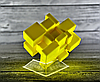 Кубик Рубика зеркальный 3х3 Qiyi-Mofange Mirror Yellow, фото 2