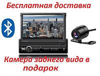 Автомагнитола с выездным экраном и камерой заднего вида  SHUTTLE SDUM-7060 Black/Multicolor