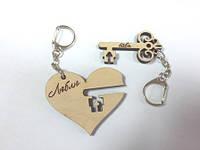 Брелки_Сердце с ключем (2 части)