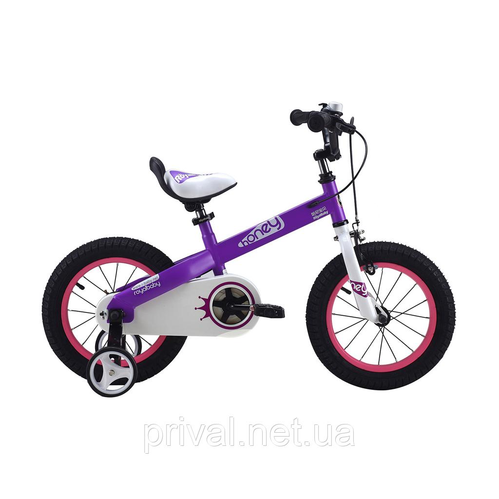 """Велосипед RoyalBaby Honey 14\"""", фиолетовый"""