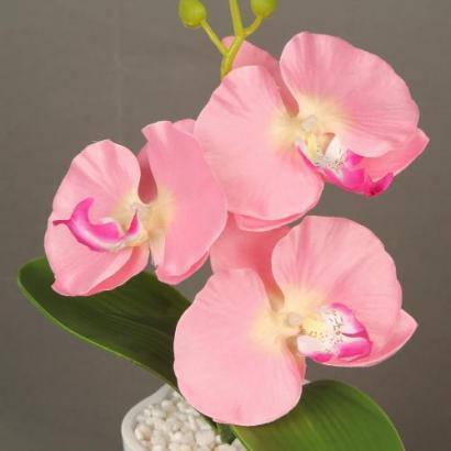 Декоративный цветок с подсветкой в горшочке Орхидея, фото 2