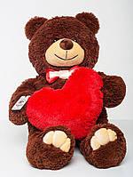 Плюшевый мишка с сердцем Mister Medved Бурый 110 см (Мягкая плюшевая игрушка)