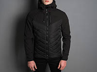 "Мужская куртка Pobedov - Jacket ""Soft Shell combi V2"" (Black)"