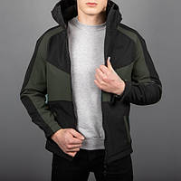 "Мужская куртка Pobedov -  Soft Shell Jacket ""Klon"" (Black-Khaki)"