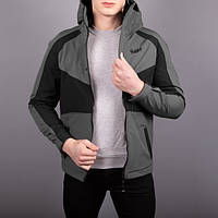 "Мужская куртка Pobedov -  Soft Shell Jacket ""Klon"" (Grey-Black)"