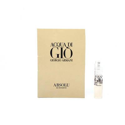 ПРОБНИК GIORGIO ARMANI Acqua di Gio Absolu парфюмированная вода 1,2ml, свежий древесный фужерный аромат