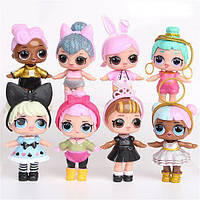 Игровой набор с куклой Лол  L.O.L.(АНАЛОГ) Surprise 8 штук в упаковке