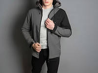"Мужская куртка Pobedov -  Soft Shell Jacket ""Boris"" (Grey-Black)"