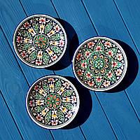 Тарелка из керамики 15 см. Риштан/Узбекистан, фото 1