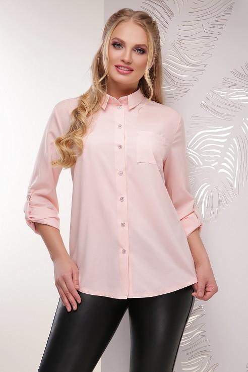 Блуза Донна пудра (52-56)