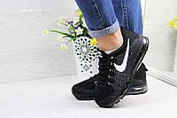 b1b19969 Кроссовки женские весенние черние с белым Nike Air Max 2017 4323 (реплика)