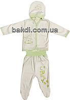 Детский костюм рост 62 (2-3 мес.) трикотаж белый на мальчика/девочку (комплект на выписку) для новорожденных СН-101