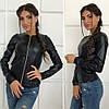 """Легкая женская демисезонная куртка из экокожи """"Karo"""" темно-бордовый, фото 6"""