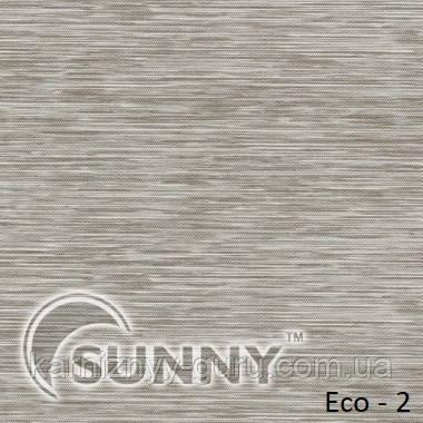 Рулонные шторы для окон в открытой системе Sunny, ткань Eco