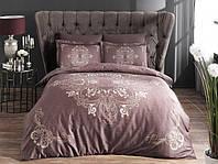 Постельное белье Pierre Cardin Hermes фиолетовый сатин сатин евро, фото 1