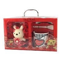 Подарочный набор чашка, ложка, блюдце и Cute Teddy Bear