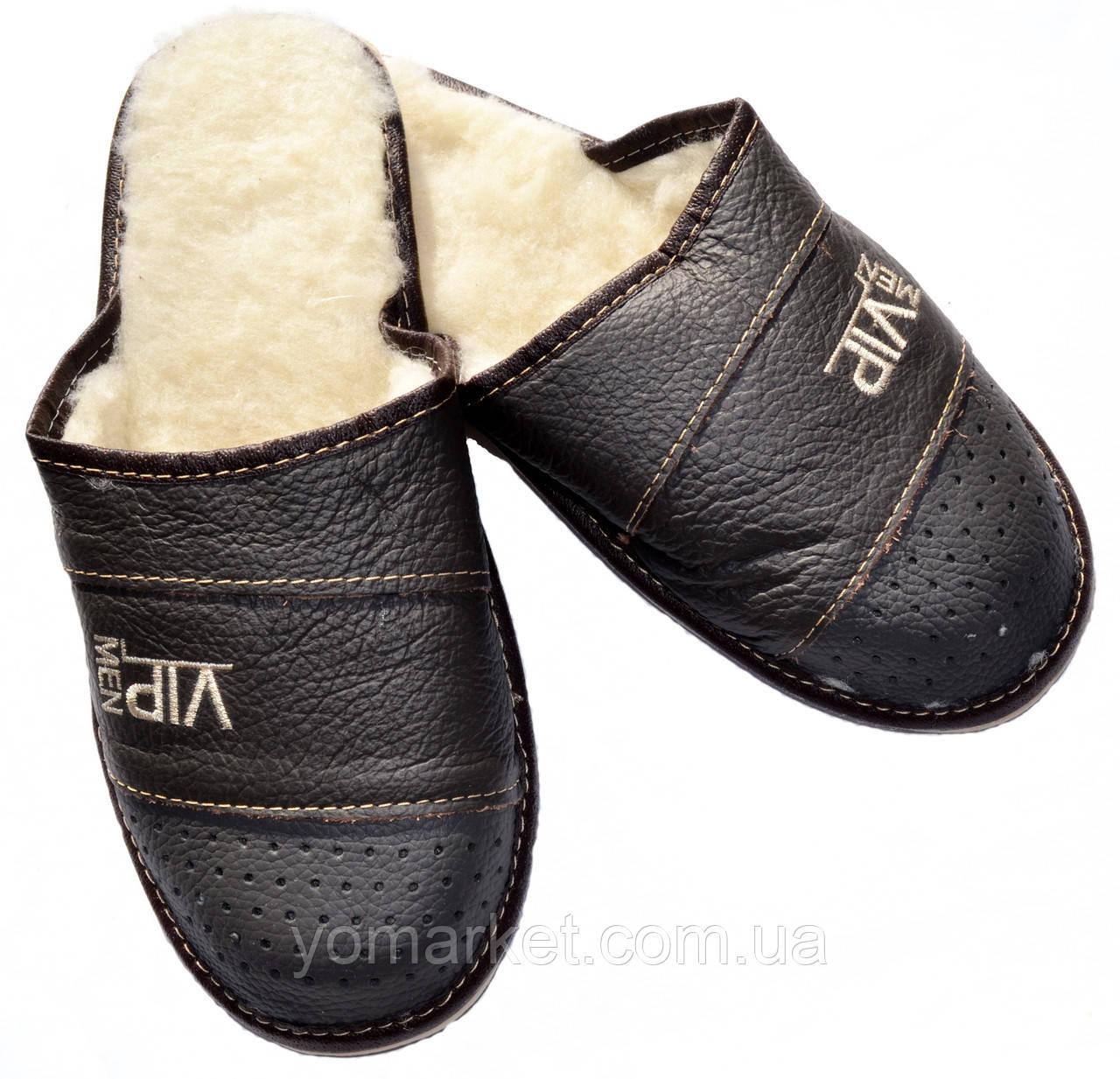 a7879952f7ac57 Домашні чоловічі тапочки з овечої шерсті та шкіри: продажа, цена в ...
