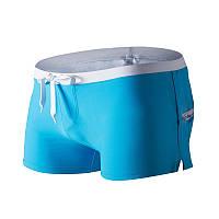Муские купальные шорты боксеры для плавания голубого цвета, фото 1