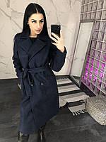 Пальто женское Diana-03 синее