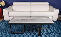 Стол журнальный SHEFFIELD (Шеффилд) керамика белый глянец 121х61х41, Nicolas