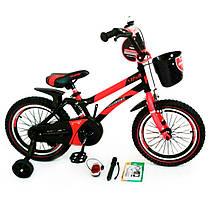Велосипед 2-х кол. Hammer 14'' S500 + ручка красный