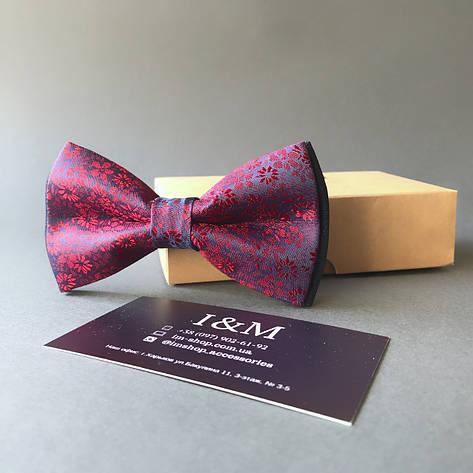 Краватка-метелик I&M Craft малиновий з переливом (0102004019), фото 2