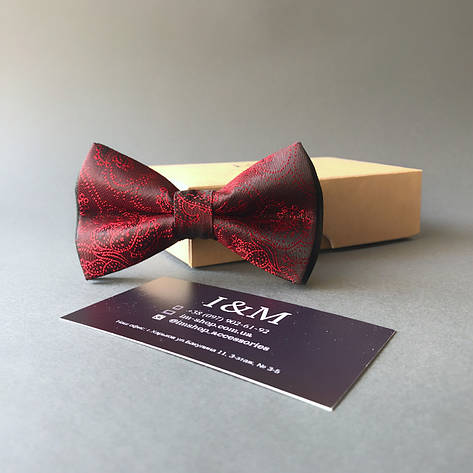 Галстук-бабочка I&M Craft красный с переливом (0102004001), фото 2