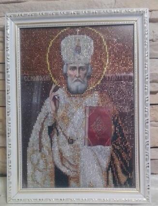 Готовая Икона алмазная мозаика